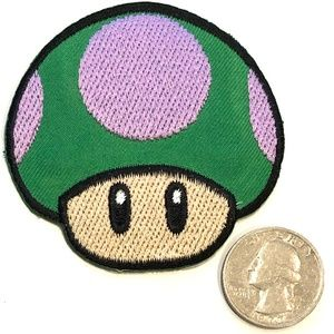 Toad patch iron on super mario video game DIY